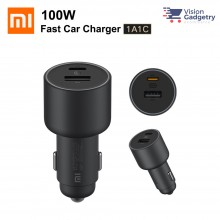 Xiaomi Car Charger 1A1C 100W Double Port Fast Charge LED Moonlight CC07ZM
