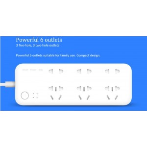 XIAOMI Mi Smart Power Strip Remote Wifi Timer Power Extension 6 Outlet