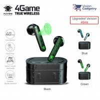Plextone 4Game TWS Bluetooth 5.0 Earphone Headset Gaming IPX5 New Upgraded 40ms