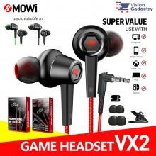 XMOWI VX2 Gaming Earphone Headset In-ear Earbud Microphone Plextone (3.5mm)