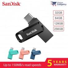 Sandisk Ultra Dual Drive GO Type-C OTG USB 3.1 DC3 Flash Drive 150MB/S 32GB 64GB 128GB 256GB
