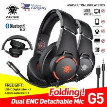Plextone G5 Gaming Headphone Headset Bluetooth 5.1 Type C Mic 45ms E-Sport