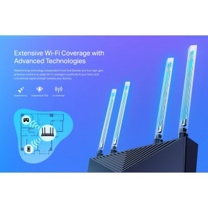 TP-Link Archer AX20 AX23 AX1800 Dual Band WiFi 6 Gigabit Wireless Wifi Router For UniFi/Maxis/Time/Celcom