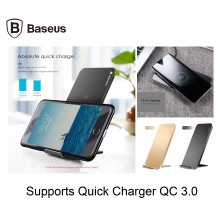 Baseus WiC1 Qi Wireless Charger Fast Charging QC3.0 Dual Coil Stand/ Sleep