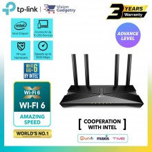 TP-Link Archer AX50 AX3000 Dual Band WiFi 6 Gig+ Intel Gigabit Wireless Router UniFi/Maxis/Time/Celcom