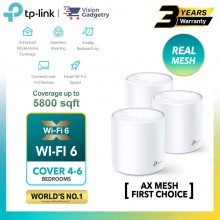 TP-Link Deco X20 AX1800 Mesh Wifi 6 Router Whole Home System Wireless Range Extender (1pc/2pcs/3pcs)
