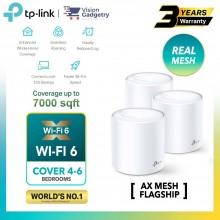 TP-Link Deco X60 AX3000 Mesh Wifi 6 Router Whole Home System Wireless Range Extender (2pcs/3pcs)