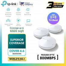 TP-Link Deco M9 Plus AC2200 Mesh Router Tri-Band Whole Home System Wireless Range Extender (1pc/2pcs/3pcs)