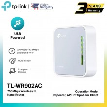 TP-Link TL-WR902AC AC750 Wireless Travel Router Mini Dual Band Range Extender AP
