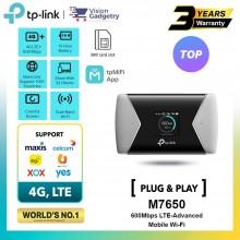 TP-Link M7650 Sim Card Mobile Mifi WiFi Router 4G+ LTE Advanced Cat.11 600Mbps Unifi/Maxis/Digi/Celcom/Umobile