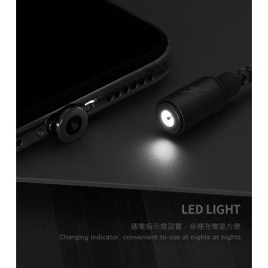 Remax Gravity Magnetic Magnet Cable Micro Lightning Type C USB LED Light