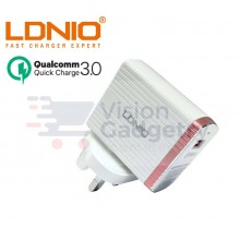 LDNIO A1302Q 3A Quick Charge 3.0 Auto ID Fast Charging USB Charger
