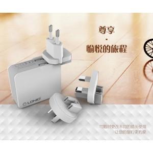 LDNIO A4403 4.4A Quadruple 4 USB Output Port Auto ID USB Charger & UK 3-Pin Plug