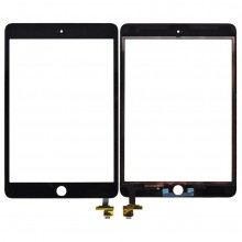 Apple iPad Mini 3 Digitizer Touch Screen 3M Adhesive w IC Home Flex Ribbon