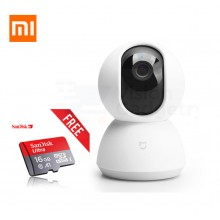 Xiaomi Mijia PTZ Pan Tilt 360° Rotating CCTV IP Camera + 16GB Class 10 Sandisk