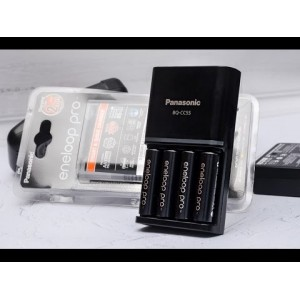 Panasonic Eneloop Pro BQ-CC55 Quick Charger Kit AA Rechargeble Battery 4pcs 2550mAh