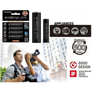 Panasonic Eneloop Pro Rechargeable AA Battery 4pcs 2550Mah