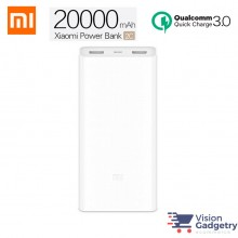XiaoMi Mi Portable PowerBank  20000mah 2C V2 Quick Charge QC 3.0 PLM06ZM