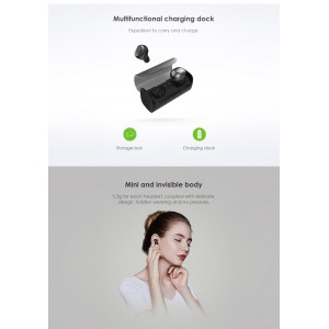 QCY Q29 Pro In-ear TWS Bluetooth 4.2 3D Stereo Headset w Dock