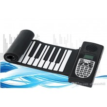 Flexible Handroll Roll Up Mini Softkey MIDI Electronic Piano w Speaker