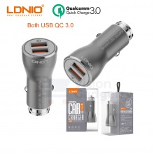 LDNIO C407Q Quick Charge 3.0 Fast Charging Dual USB Car Charger 36W w Cable