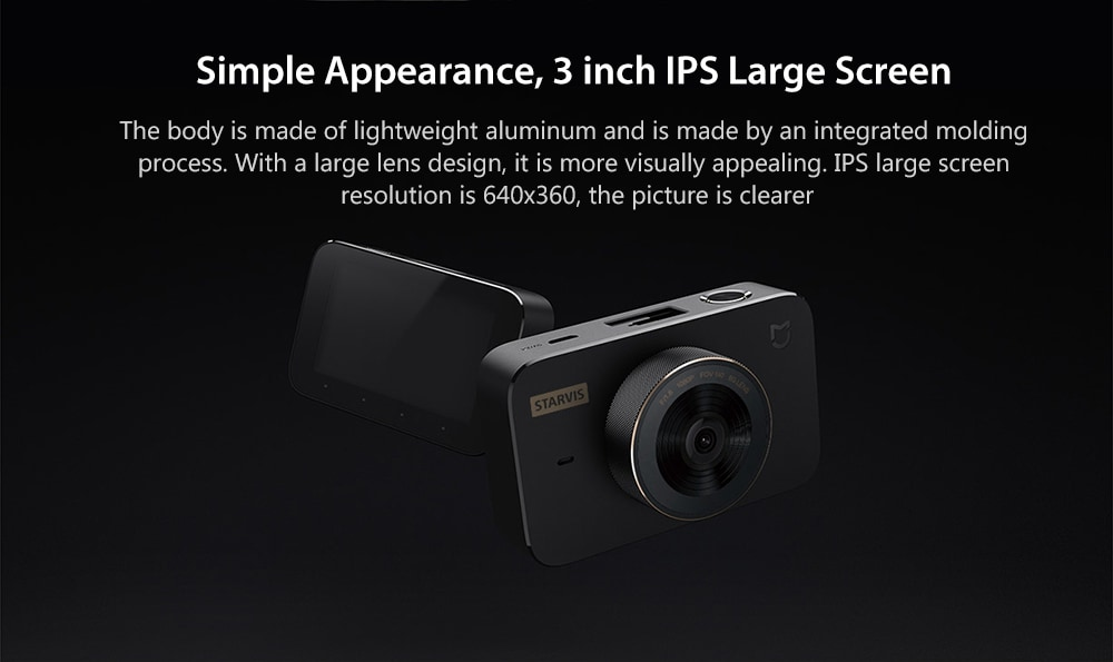 XIAOMI Mi Mijia Smart Car DVR Camera Recorder Dashcam