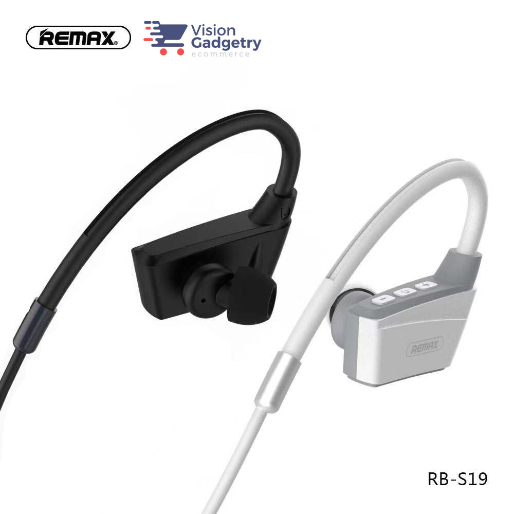 Remax S19 Rb S19 Magnet Headset Earphone Wireless Sport Bluetooth 4 2