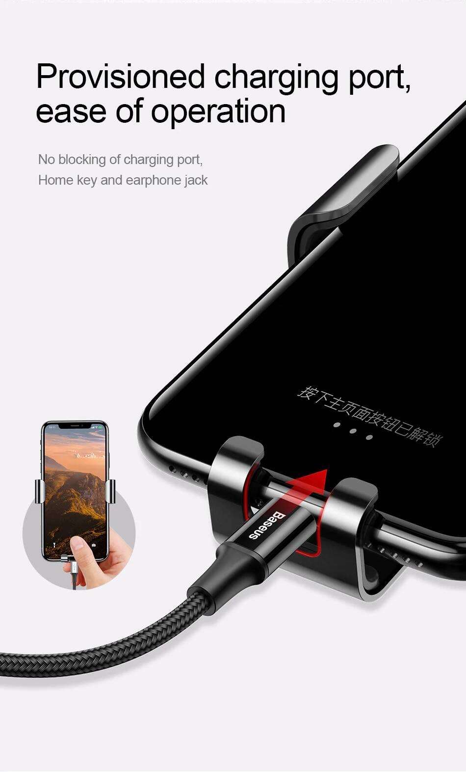 Baseus Metal Age Gravity Car Phone Holder Mount SUYL-F01 Black