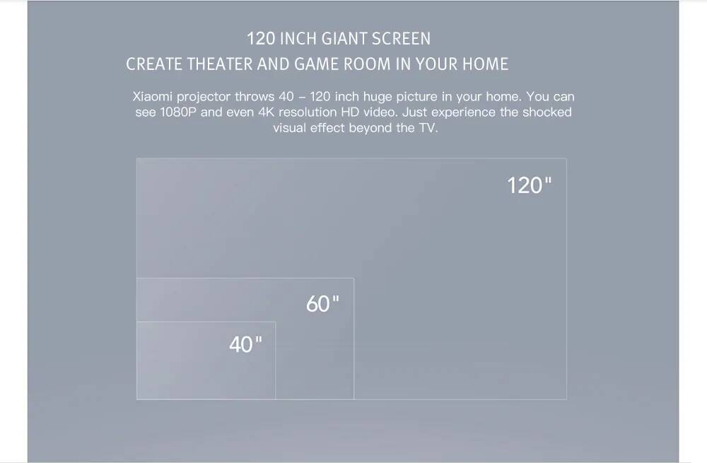 Xiaomi Mijia Portable Projector 800ANSI 1080p FullHD TYY01ZM Pre-Order
