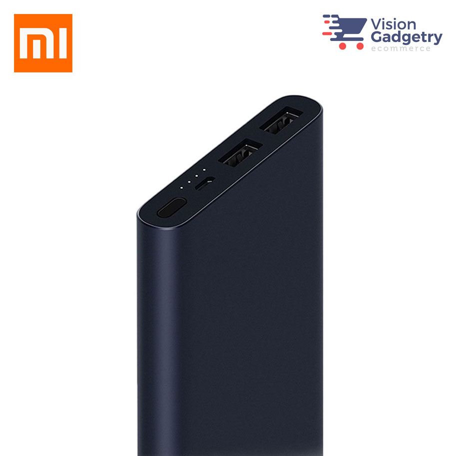 Xiaomi Portable Powerbank 2i 10000mah Ultra Thin Quick Charge Bestseller New Slim Original Silver Power Bank X1 Cable Manual
