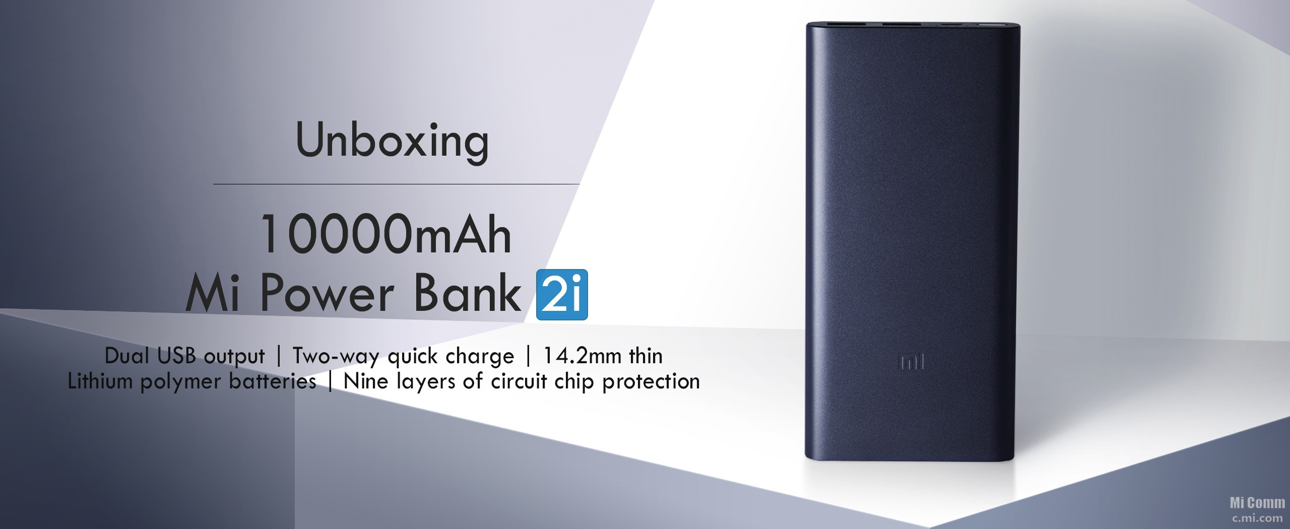 Xiaomi mi portable powerbank 2c v2 quick charge qc 3 0 Power bank mah
