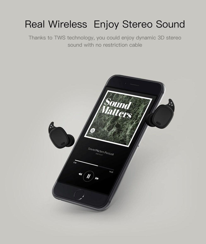 QCY T1 PRO TWS Wireless Sport Bluetooth 4.2 Earphones Headphones w Doc b676bf7eca
