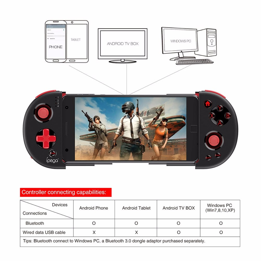 iPega PG-9087 9087 Red Knight Wireless Bluetooth Gamepad Controller
